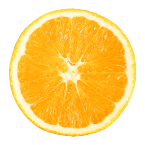 a sliced Navel-orange