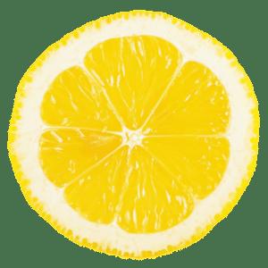 Eine aufgeschnittene Limone