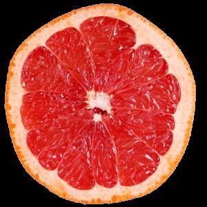 Eine aufgeschnittene Grapefruit