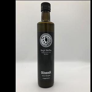 Die 500 ml Flasche unseres herrlichen Öles aus Sizilien, damit der Salat zuhause genauso gut wird wie im Urlaub